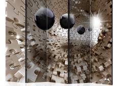 Paraván - Golden Jigsaw II [Room Dividers]
